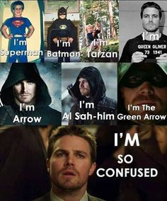 Stephen Amell's various personas. Arrow Tv, Team Arrow, Supergirl Dc, Supergirl And Flash, Stephen Amell, Arrow Memes, Arrow Funny, Oliver Queen Arrow, Superhero Shows
