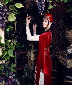 Armenian girl in traditional costume Traditional Fashion, Traditional Dresses, Folk Costume, Costumes, Armenian Culture, Afghan Dresses, Pretty Dresses, Georgian, Armenia Travel
