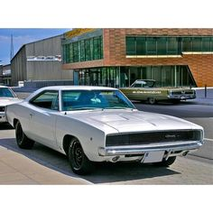 Classic, White Dodge Charger!