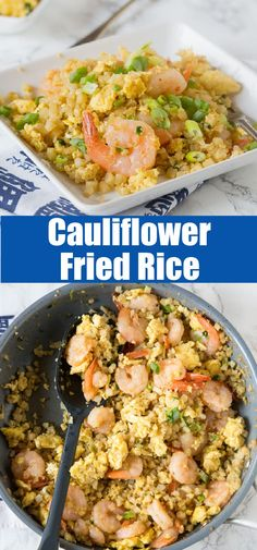 Shrimp Fried Rice – A healthy version of a Chinese take-out favorite! Ready in minutes and you don't have to feel any guilt about fried rice again! Entree Recipes, Side Dish Recipes, Veggie Recipes, Brunch Recipes, Seafood Recipes, Healthy Recipes, Meal Recipes, Copycat Recipes, Crockpot Recipes