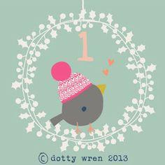 The Dotty Wren Studio advent calendar (via Print & Pattern).