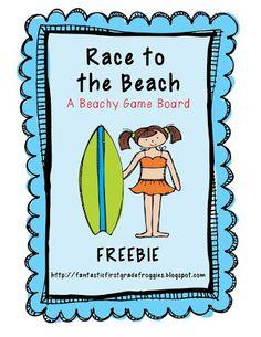 Race to the Beach open game board Freebie