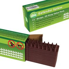Cat and Bird Repellent Spikes [PROTECT YOUR PROPERTY] Outdoor Fence Security Spikes to Keep Cats Birds Racoons and More Away Out of Your Yard. Plastic Deterrent Anti Theft Climb Strips – 20pk Brown * Read more  at the image link.(It is Amazon affiliate link) #BirdsIdeas Spikes, Fence, Cnd Nails, Composite Fencing, Woodpeckers, Liberty Spikes