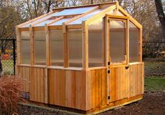 Our Outdoor Living Today 8 ft. x 8 ft. western red cedar kit is the ideal, year-round gardening environment that will not only maximize your greenhouse experience but also add instant character and beauty Indoor Vegetable Gardening, Small Space Gardening, Hydroponic Gardening, Hydroponics, Urban Gardening, Greenhouse Gardening, Organic Gardening, Aquaponics System, Container Gardening