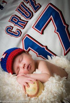 Texas Rangers  Baseball Cap,,,,Crochet  Newborn hat on Etsy, $29.99