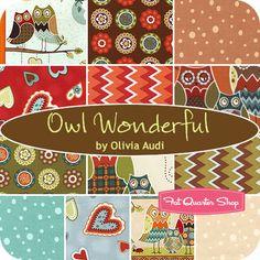 Owl Wonderful Fat Quarter Bundle Olivia Audi for South Sea Imports - Fat Quarter Shop