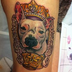 50 Pitbull Tattoo Snouts Meanings and Designs - We love Dogs Check more at http://tattoo-journal.com/50-pitbull-tattoo-snouts-meanings-and-designs-we-love-dogs/