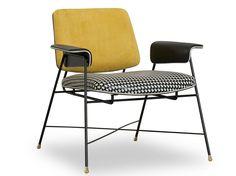 Petit fauteuil en cuir BAUHAUS by BAXTER | design Draga Obradovic Atelier                                                                                                                                                                                 Plus