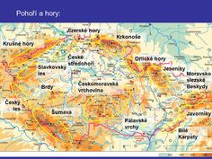 Mapa Hory čr | MAPA Rainbow, Map, Learning, World, Illustration, Literatura, Historia, Chemnitz, Regensburg