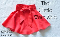 Simple Simon & Company: Wrap Skirt made from a Circle Skirt Tutorial Skirt Patterns Sewing, Clothing Patterns, Skirt Sewing, Girls Skirt Patterns, Girl Doll Clothes, Sewing Clothes, Wrap Skirt Tutorial, Tutu Tutorial, Sewing Tutorials