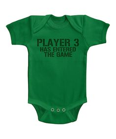 Look at this Kelly Green 'Player 3' Bodysuit on #zulily today!