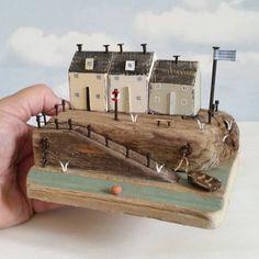 Mini slipway.  Driftwood from storm damaged beach huts. #driftwood…