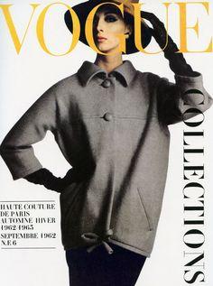 Wilhelmina in Yves Saint Laurent, Paris Vogue, September 1962, cover by Irving Penn