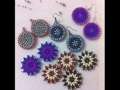 "▶ "" Superstar "" Tutorial Orecchini Superduo - Beading Superduo Star Earrings - YouTube"