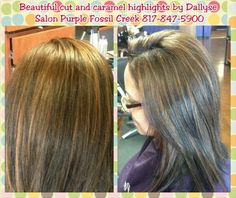 #beautiful #caramel #highlightes #layeredhaircut #layeredhair #healthyhair #beautifulhair #salonpurple #caramelhair