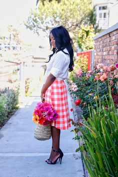 DowntownDemure.com // Modest Fashion Blog // Lovely in Ginham + Daisies