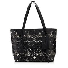 9bac02e378 TWIST EAST WEST. Twist East West Tote Bag in Black Mix Leather with Graphic  Stars. Discover our Pre Fall 17 ...