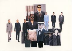 Tailoring project: Contemporary menswear tailoring moodboard