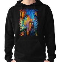 Mysterious Man at beautiful Rainbow Place Pullover Hoodies @pointsalestore #tee #tshirt #clothing #painting #abstract #drawing #ink #art #tardis #doctorwho #phonebox #phonebooth #badwolf #starrynight #vangogh #halloween #bluephone #timemachine #timetraveller #davidtennant #timevortex #strangecity