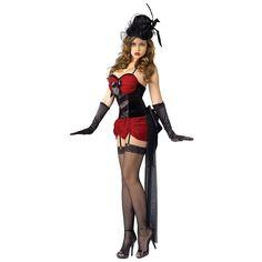 Burlesque Baby Costume Adult Saloon Girl Cancan Dancer Halloween Fancy Dress