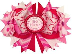 Be Mine Hearts Ott Hair bow by RebelBowz on Etsy