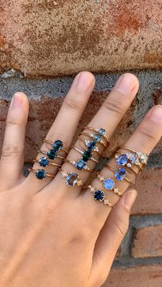 Envero Jewelry's affordable sapphire engagement rings - beautiful wedding rings Cute Jewelry, Jewelry Rings, Jewelry Accessories, Jewelry Design, Jewlery, Grunge Jewelry, Accesorios Casual, Jewelry Photography, Pretty Rings