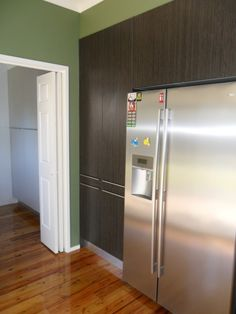 View of kitchen - tall cabinetry