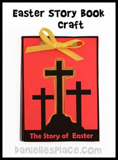 Easter Story Book Bible Craft for Kids www.daniellesplace.com