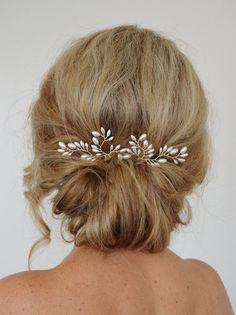 Art Deco Hochzeit Haarschmuck Fern Leaf von RoslynHarrisDesigns