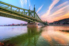 Budapest, Liberty Bridge (below view)