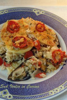 Tilla di Riso Patate e Cozze - http://blog.giallozafferano.it/suditaliaincucina/tiella-riso-patate-cozze/