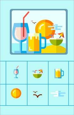 Summer Icon on Behance