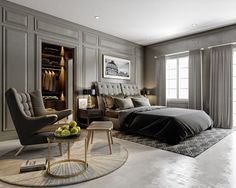Master bed room on Behance