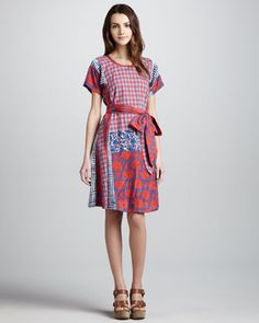 Molly Mix-Print Cotton Dress by MARC by Marc Jacobs at Bergdorf Goodman.