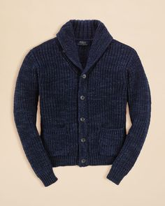 Ralph Lauren Childrenswear Boys' Shawl Collar Cardigan - Sizes S-xl