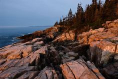 Acadia Sea and mountain meet at Acadia National Park in Maine. Most of the park is on Mount Desert Island, a patchwork of parkland, private property, and seaside villages. American National Parks, Most Visited National Parks, Arcadia National Park, Great Places, Places To See, Mount Desert Island, Reserva Natural, Park Lodge, Seaside Village