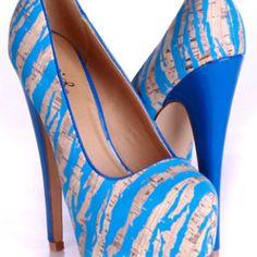 Blue and cork zebra