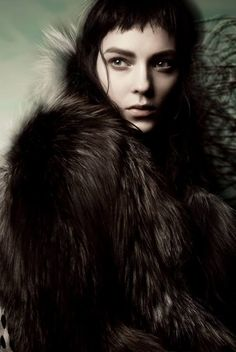 Like A Painting  Vogue Italia November 2014 Model: Kati Nescher Photographer: Sølve Sundsbø Fashion Editor: Ludivine Poiblanc Hair: Shon Make-up: Marla Belt