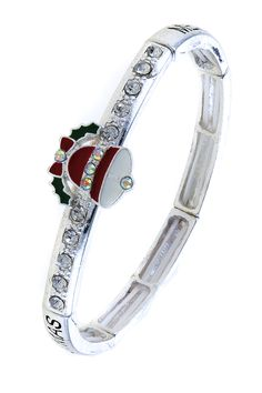 CRYSTAL ACCENT BELL CHRISTMAS BRACELET