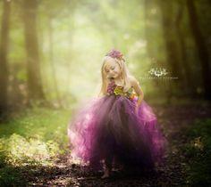 Woodland Fairy dress/ Red fairy tutu/ Fall Fairy by LisasThreads