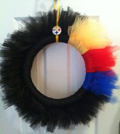Steelers wreath, but I may not be able to hang it on our door lol
