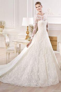 pronovias bridal 2014 atelier collection yesuru long sleeve wedding dress