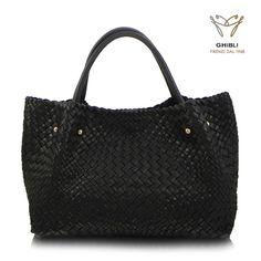 Attavanti - Ghibli Hand Woven Italian Leather Tote Bag - Black, £589.00 (https://www.attavanti.com/luxury-italian-leather-designer-handbags/ghibli-hand-woven-italian-leather-tote-bag-black/)