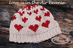 The Love Is In The Air Beanie is very popular, super cute and easy to make. It includes the Waistcoat aka Knit stitch and has a video to explain it.