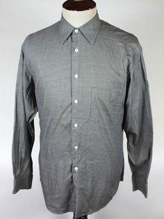 7f04218c2 Ermenegildo Zegna Soft Dress Shirt size 39 / 15.5 made in Spain Superfine  Cotton #ErmenegildoZegna