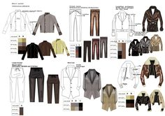 University work This is my university work, I designed for Rick Owens, the above picture shows the ten outfits creating a co. Fashion Line, Fashion Images, Fashion Art, Kids Fashion, Flat Drawings, Flat Sketches, Technical Drawings, Fashion Design Template, Pattern Fashion