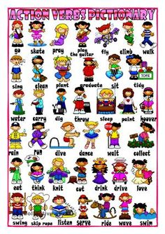 Action Verbs New Routine Verbs For Eslefl Learnerschart  Esl Action Verbs .