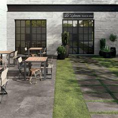 carrelage extérieur pour sol de jardin en gris foncé Unika par Abk Industrie Ceramiche