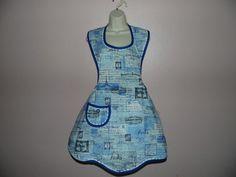 Blue Paris vintage apron Vintage Apron, Apron Designs, Paris, Blue, Dresses, Fashion, Vestidos, Moda, Montmartre Paris