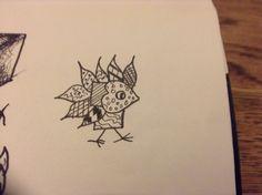 My favourite of all my zentangle birds...a little cutie.